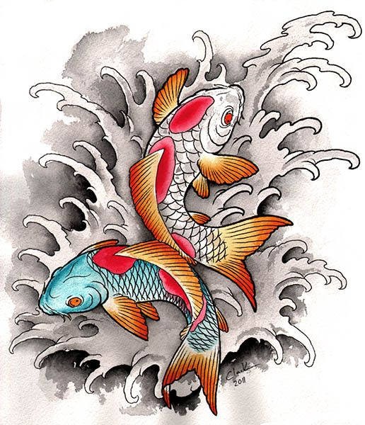 1000 ideas about asian tattoos on pinterest japanese for Koi pond tattoo