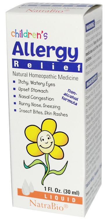 - Description - Additional Details Children's Allergy Relief: For the temporary relief of the allergy symptoms of: • Itchy, Watery Eyes • Upset Stomach • Nasal Congestion • Runny Nose, Sneezing • Inse