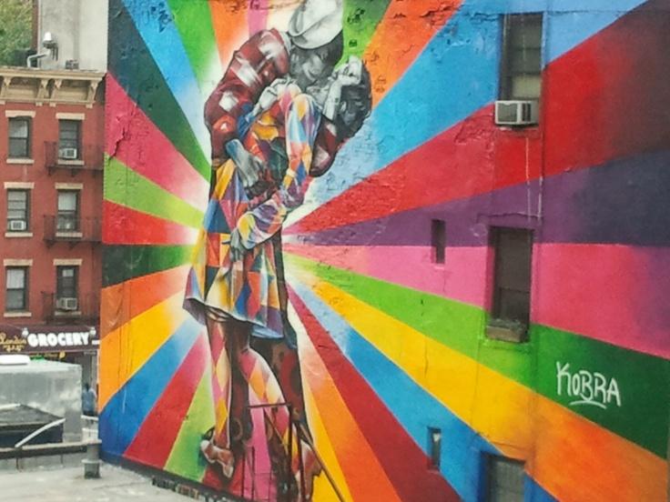 Graffiti de Eduardo Kobra en High Line Park, NY