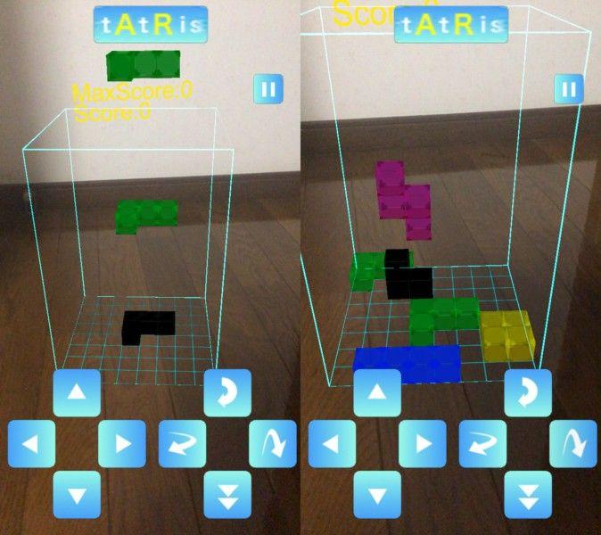 AR(拡張現実)は現実世界にデジタルデータを重ねることができる技術です。これまでに、アップルのAR機能「ARKit」を活用した『Minecraft』風のゲームプレイ動画などが公開されています。 今回、往年の人気ゲームである『テトリス』風のゲームをプレイできるiOS向けARアプリ『tAtRis -タトリス-』がリリースされました。ARkitに対応したiPhone6s以降の端末(iOS11以上)で無料プレイ可能です。  『tAtRis -タトリス-』は、上から落ちてくる様々な形のブロックを配置していき、縦・横一列をブロックで揃えることで消すことができるパズルゲームです。フィールドは、360度から見回すことができ、立体的なオブジェクトや上から覗くブロックの隙間など『テトリス』とはまた違った感覚のパズルを楽しめます。 まず、スマートフォンのカメラ機能で床や机など平面な場所を認識させます。ゲームの準備が整うと「スタート」のボタンが表示されます。上記画像の四角のスペースがフィールドとなります。…