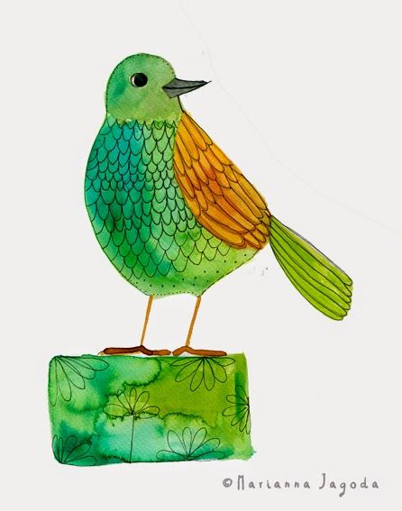 Marianna Jagoda : Summertime and the birds.