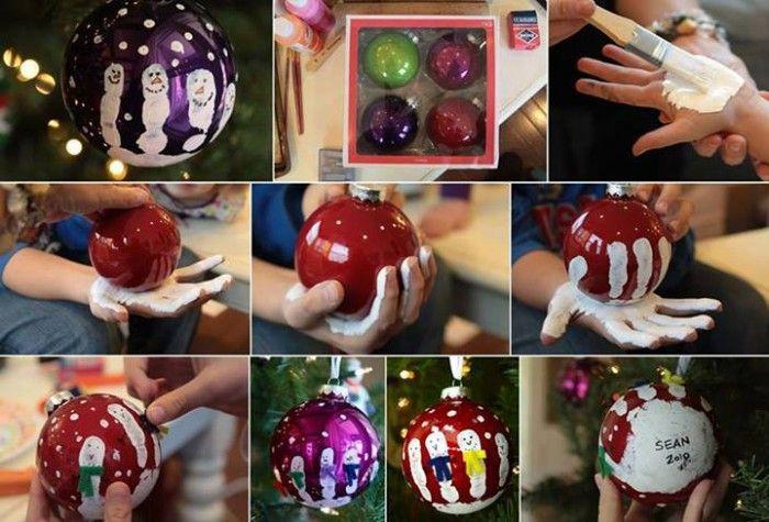 zelf kerstballen versieren! leuk idee om met de kinderen te doen.
