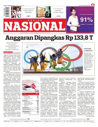 Harian Nasional - 05 Agustus 2016 | Anggaran Dipangkas Rp 133,8 T | Harian Nasional