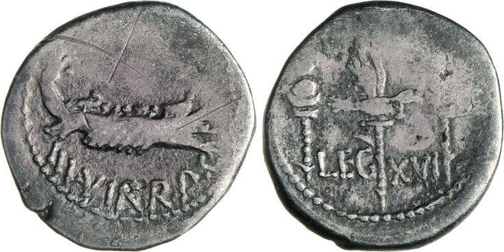 NumisBids: Numismatica Varesi s.a.s. Auction 65, Lot 126 : MARC'ANTONIO (32-31 a.C.) Denario, leg. XVI. B. 126 Syd. 1236 ...