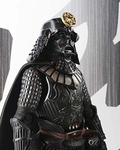 "Has an added Japanese style that makes for a completely unique design (his sharp lightsaber-katana, to the meticulously sculpted Samurai-esque armor) Look closer at Vader's helmet and you will even notice the Imperial insignia arranged in elaborate ""wa"" style. Set includes 2 interchangeable lightsaber parts and 3 sets of interchangeable hands for posing the Sith Lord as he manipulates the Force."