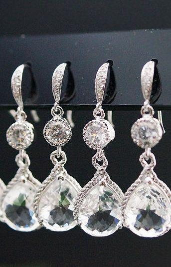 lovely teardrops // bridal jewelry by my sweet jewelry