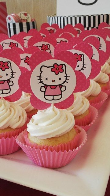Hello Kitty Picture Cupcakes                                                                                                                                                                                 More