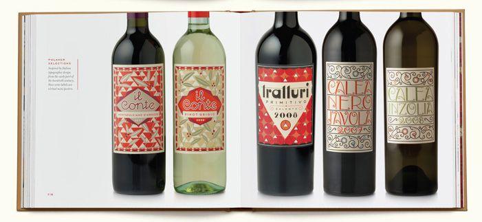 Louise Fili wine labels