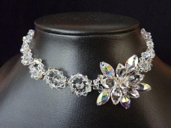 Bridal Chocker Bridal Necklace Wedding Necklace by glamourbysonja