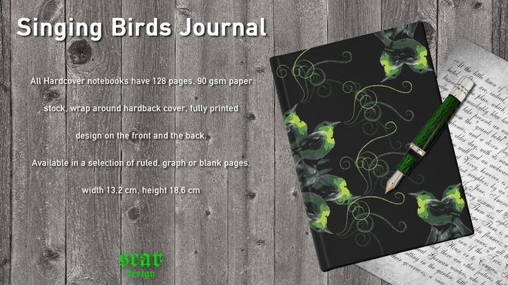 Singing Birds Journal by Scar Design  #notebooks #journal #birds #modernjournal #birdsjournal #buyjournals #coolgifts #giftsforher #giftsforhim #schoolnotebook #collegenotebook #campus #artistsnotebook #sketchingnotebook #diary #writersnotebook #buyuniquegifts #unique  #redbubble #scardesign