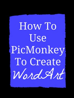 How To Use PicMonkey To Create Word Art {Tutorial}  jz- i like how she explains the beginning steps of the process-- her explanation makes more sense to me than others. =)