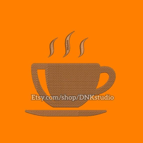 Steaming Coffee Cup Embroidery Design - 5 Sizes - INSTANT DOWNLOAD  This design manually made by hand, from start to finish. It is a digitized embroidery design for a buyer who has an embroidery sewing machine.  https://www.etsy.com/listing/507036898/steaming-coffee-cup-embroidery-design-5  #stitch #digitized #Sewing #Needlecraft #stitches #Embroidery #Applique #EmbroideryDesign #pattern #MachineEmbroidery #symbol #icon #Steaming #Coffee #Cup #CoffeeCup