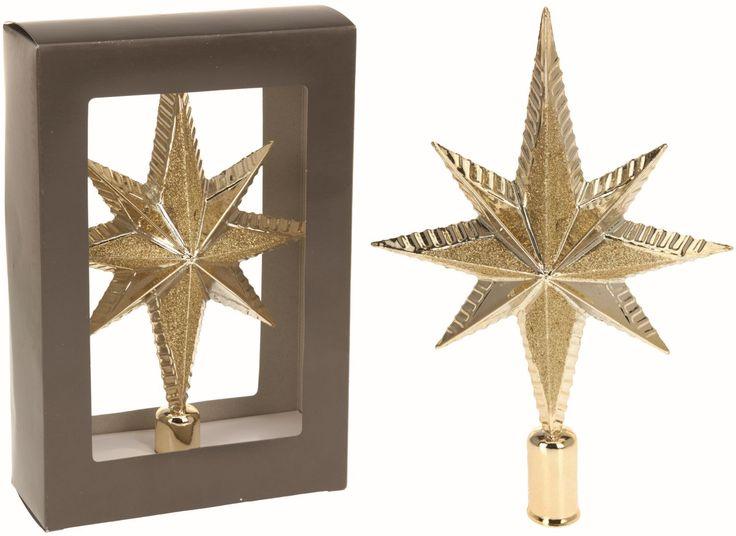 Špice vánoční 25 cm zlatá -
