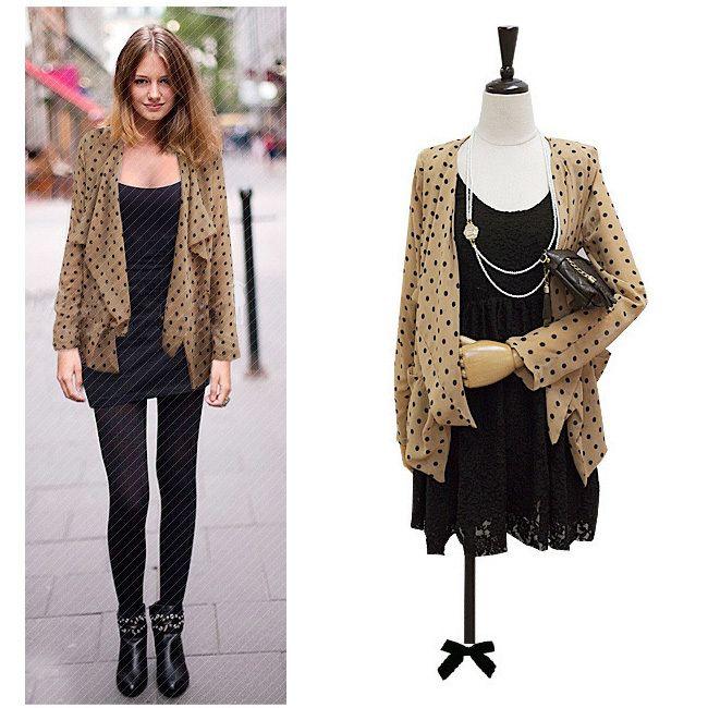 Fashion-Plus-size-clothing-for-fat-girls-women-summer-dot-long-sleeve-loose-all-match-chiffon.jpg (650×650)