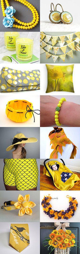Sunshine-yellow!!! by Jolanya on Etsy--Pinned+with+TreasuryPin.com