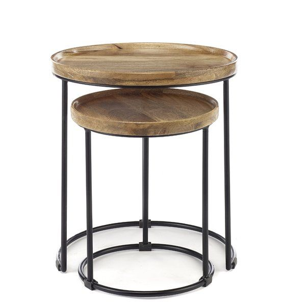 Hallie 2 Piece Nest Of Tables In 2020 Table Solid Wood Table