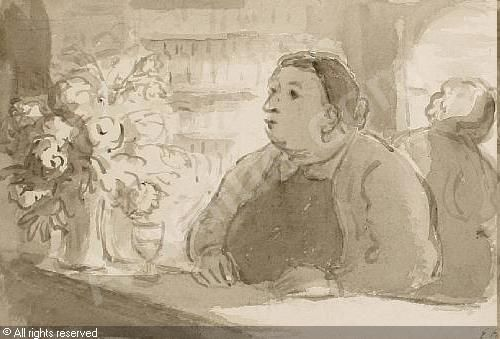 The Landlady, c1950, Edward Ardizzone, UK