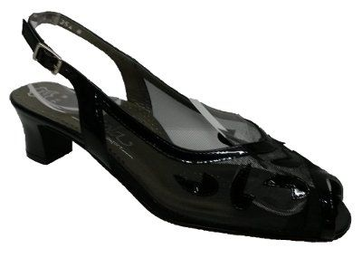 Viola - Tempt - Black Patent/Mesh