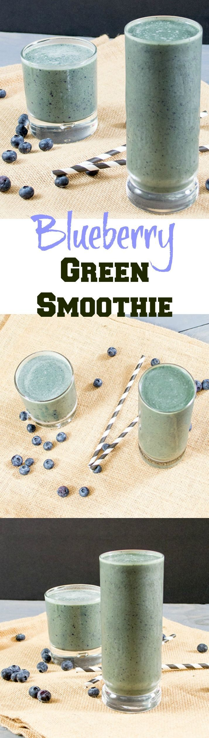 Start! your day with antioxidant packed blueberries in this easy to make green smoothie recipe. Easy to make, perfect for on the go breakfast or after workout recovery. Vegan, gluten free.