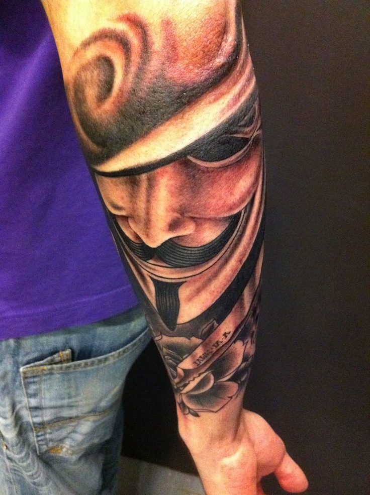 V de vendetta tattoo