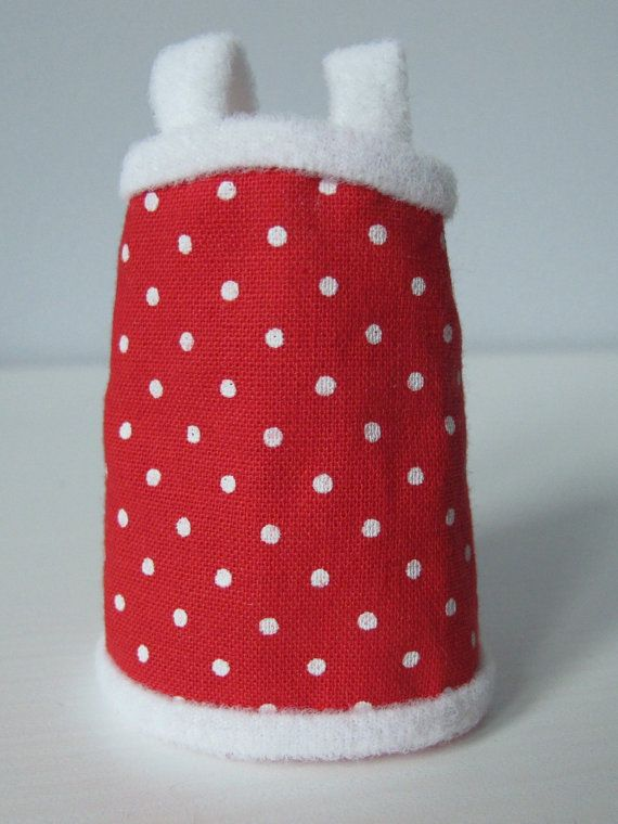 Dress for Lati Yellow Pukifee red polka dot cute 1/8 BJD dollfie