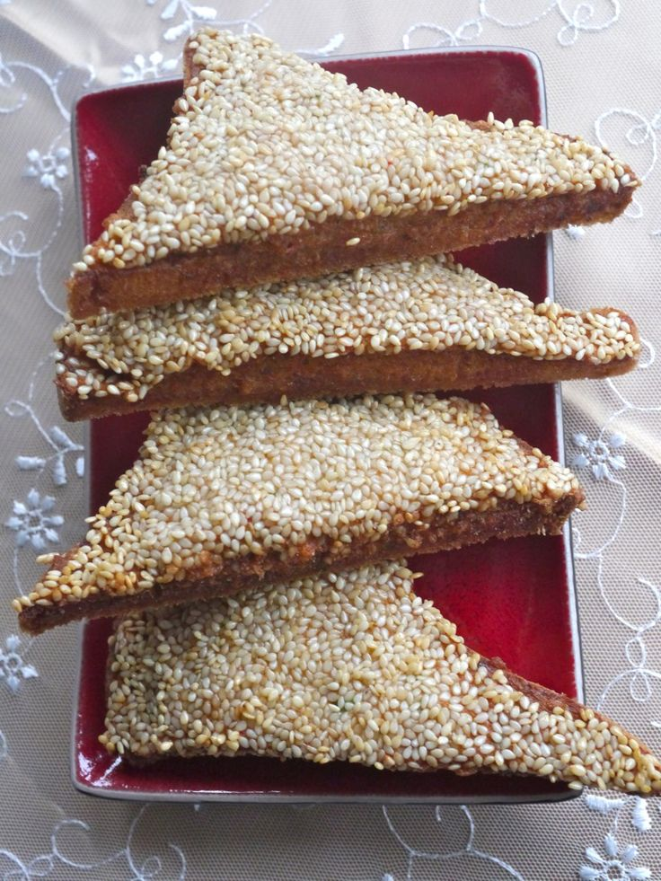 Sesame Prawn Toast by Victoria Glass #chinesefoodrecipes