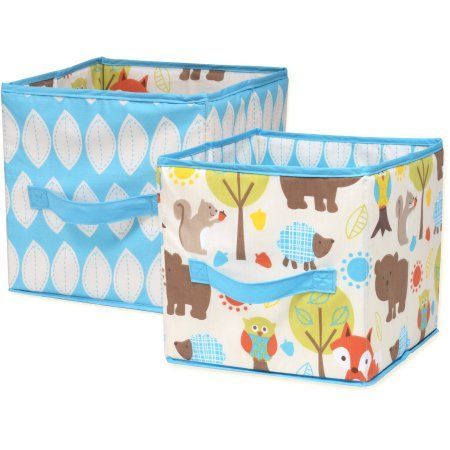 Little Bedding By Nojo Woodlands Collapsible Storage Bin 2 Pack Brown