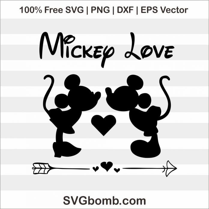 Free Svg Mickey Minnie Mouse Love With Images Disney