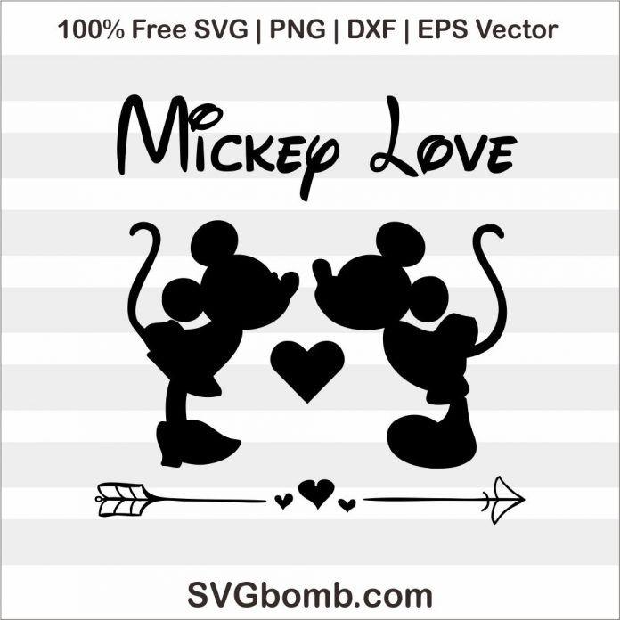 Download Free SVG: Mickey Minnie Mouse Love | SVGbomb.com | Cricut ...