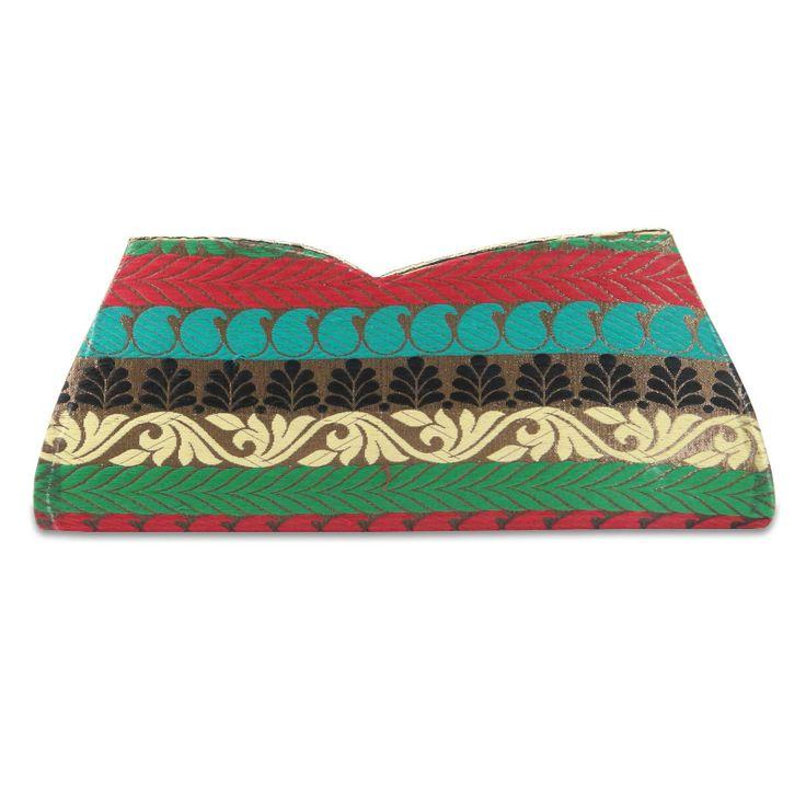 Beautiful Brocade fabric woman Rhinestone  clutch purse /handbag. ..this is img