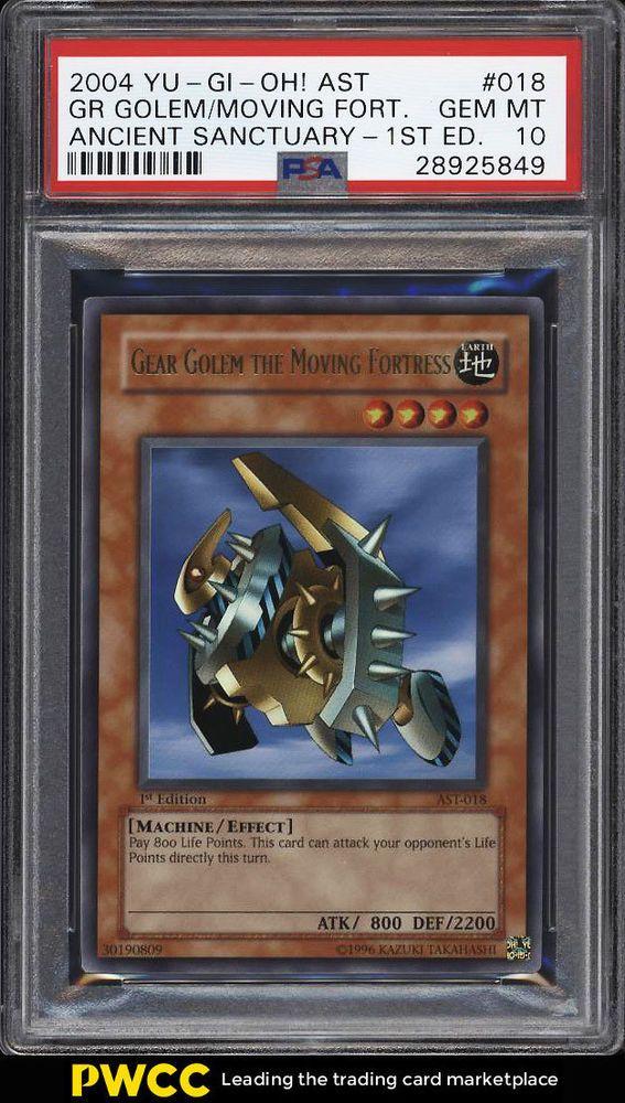 2004 Yu-Gi-Oh! Ancient Sanctuary 1st Ed Gear Golem Moving