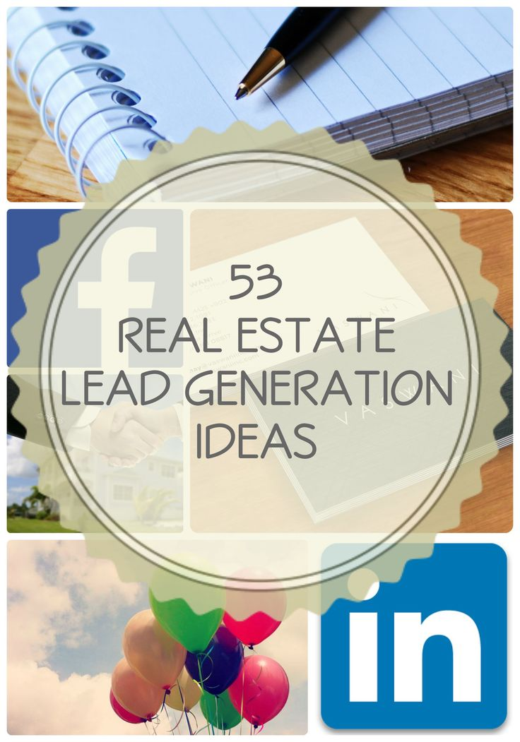 53 Real Estate Lead Generator Ideas! LinkedIn has a marketing tip that's super cool!!! ~  #marketing #realtor