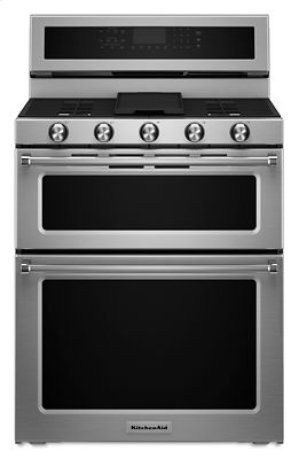 KFGD500ESS in Stainless Steel by KitchenAid in Concord, NH - 30-Inch 5 Burner Gas Double Oven Convection Range - Stainless Steel