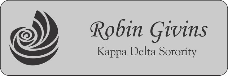 Kappa Delta Sorority Name Tags and ID Name Badges for Greek Week, Kappa Delta Sorority events, pledges, and sorority sisters.