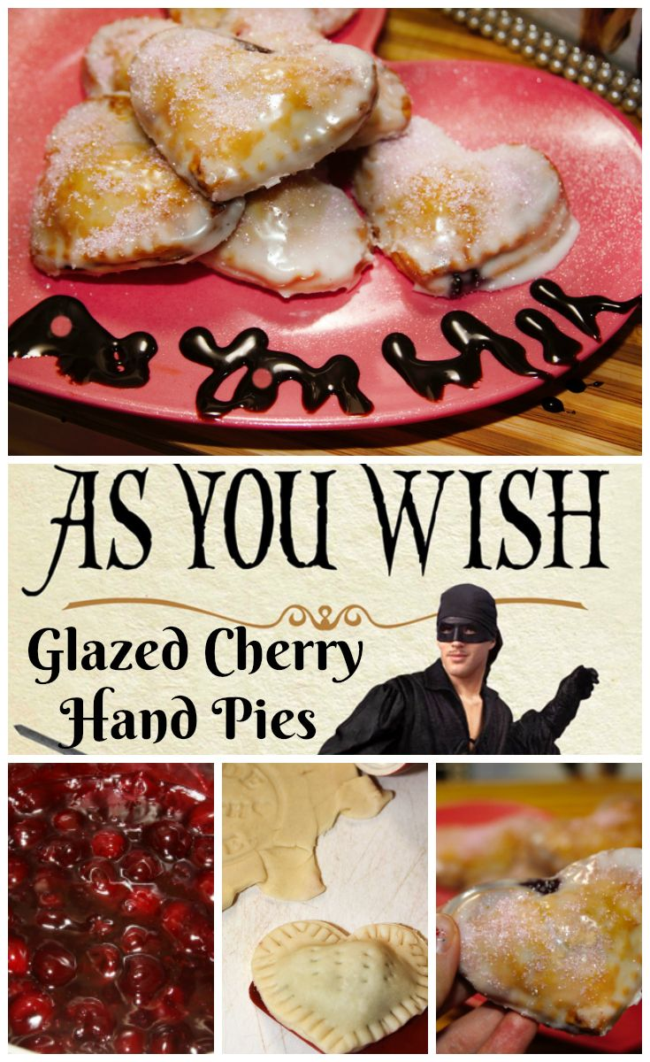 "As You Wish Glazed Cherry Hand Pies - inspired by ""The Princess Bride"" for #MovieMonday"