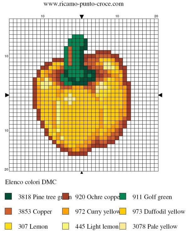 cuisine - kitchen - poivron - point de croix - cross stitch - Blog : http://broderiemimie44.canalblog.com/