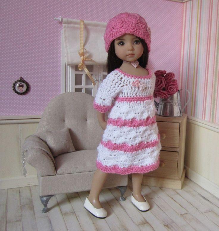 110- FICHE PATRON CROCHET Ensemble Petit Coeur pour poupée Little Darling, Minouche, Paola Reina ou Chérie : Jeux, jouets par atelier-crochet