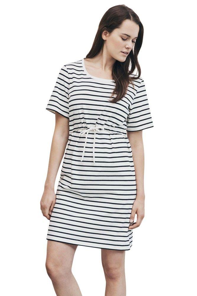 c27c4f4bbd Boob Design Simone Short-Sleeved Organic Maternity   Nursing Dress in Tofu  Black