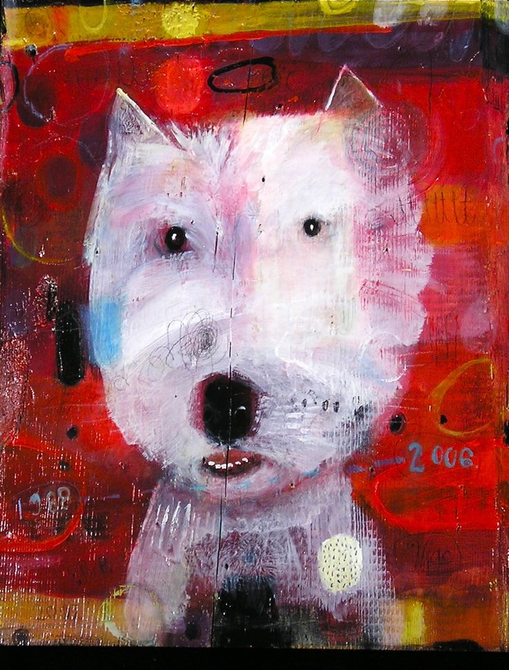 Awesome abstract dog art