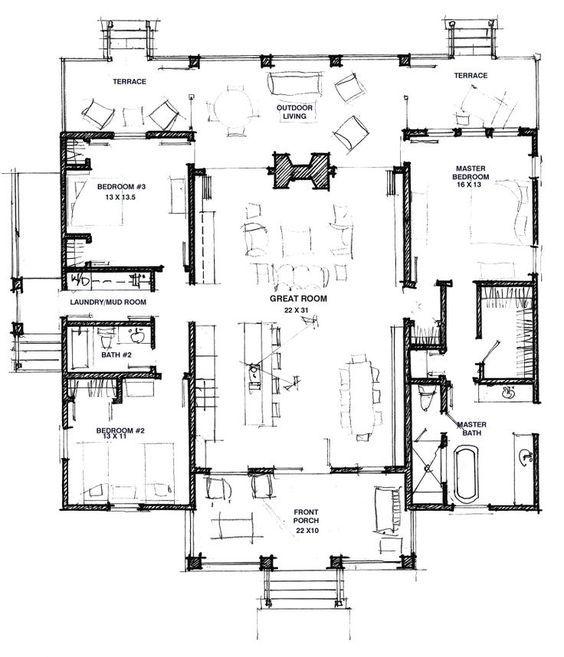 373 best house plans images on Pinterest