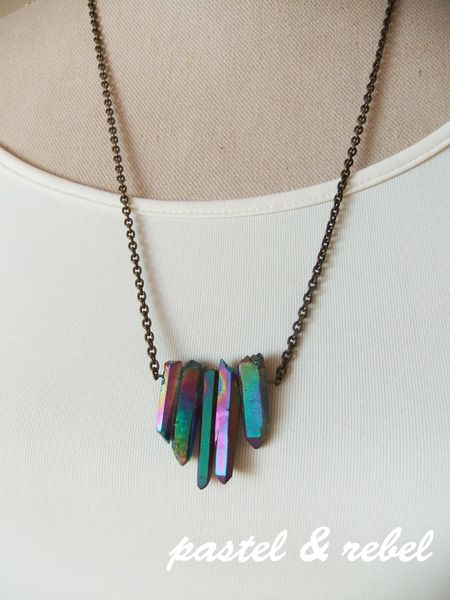 ❄ #quartz titan ❄ Gouttes de quartz irisé bleuté de pastel&rebel sur DaWanda.com