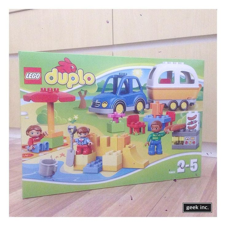LEGO CLEARANCE SALE . . Lego | Duplo | 10602 - Camping Adventure Lego - new original unopened sealed box IDR 425.000  Product details : Includes 3 Lego Duplo figures : mom dad and child. Features a buildable car and caravan beach scene and outdoor barbecue area with parasol table and chairs. Accessories include a blanket bucket and spade flower and bread. Also includes bricks decorated as grill controls and barbecued meat as story starters. . . #geekincid #geekinctoys #geekinclego by…