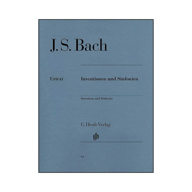 G. Henle Verlag Inventions And Sinfonias BWV 772-801 By Bach / Steglic