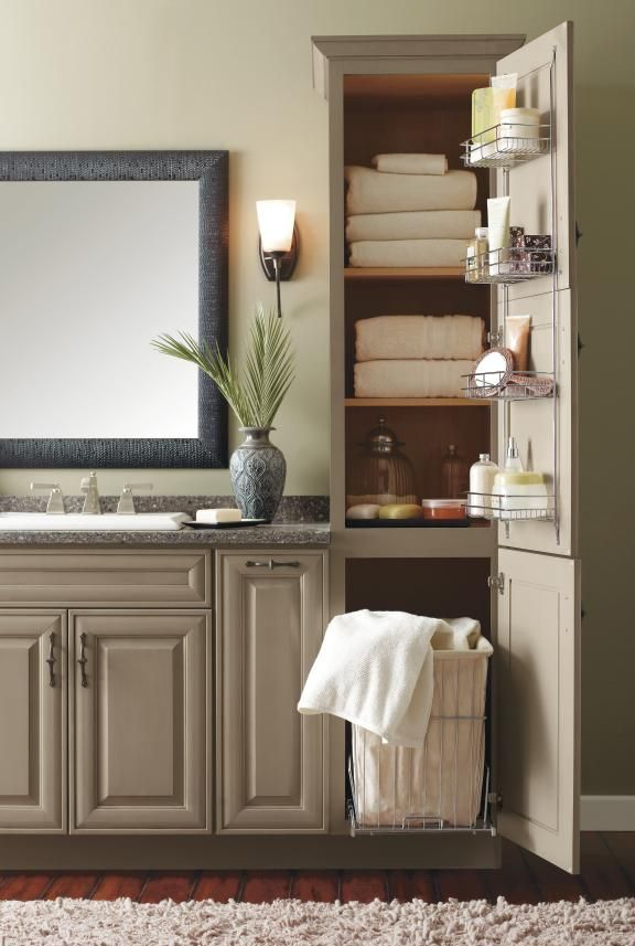MasterBrand's bathroom storage cabinets are intelligently designed to create a luxurious spa-like feel while hiding away toiletries and clutter.