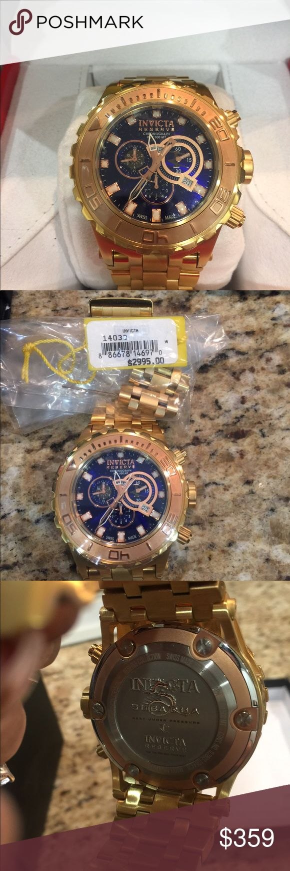 Men's Invicta Watch Gorgeous Invicta Reserve Specialty Subaqua Chronograph Mirror Polish Bracelet Watch. New in box with paperwork! Invicta Accessories Watches