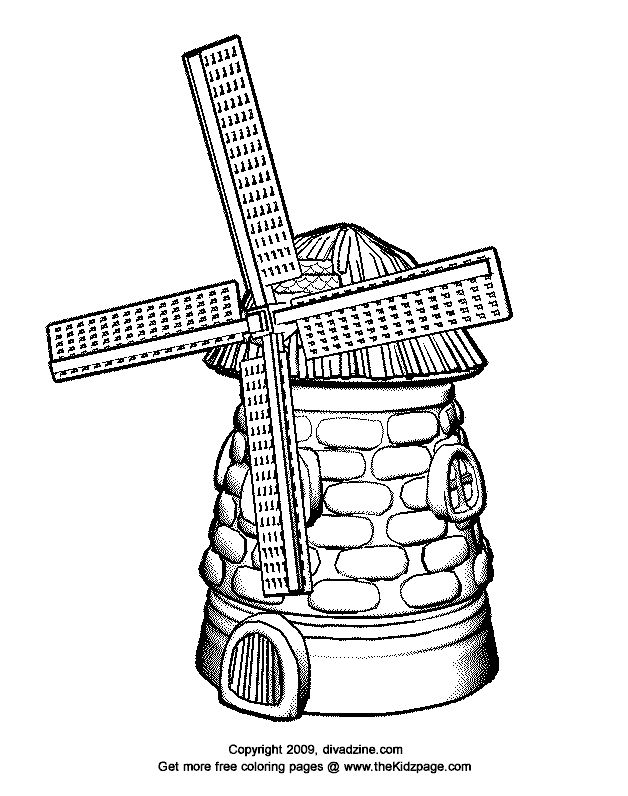 free coloring pages dutch windmill - photo#8