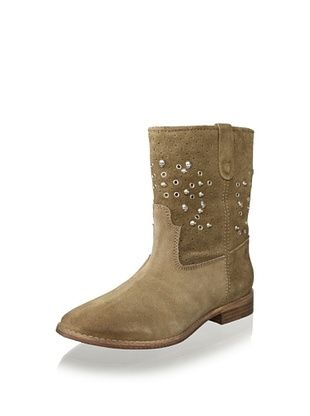 49% OFF Lola Cruz Women's Skull Stud Flat Boot (Taupe)