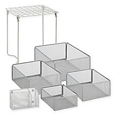 image of Honey-Can-Do® 6-Piece Back-to-School Locker Storage and Organizer Kit with Basket Set