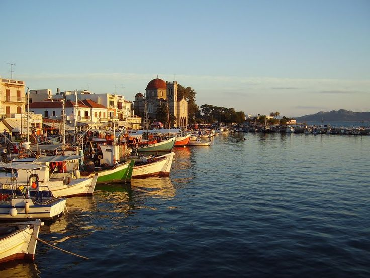 We ❤ Greece | Seafront of #Aegina harbor #Greece #travel #explore #destination