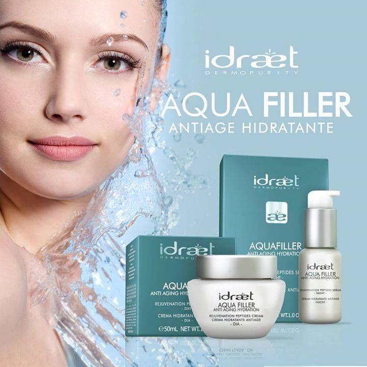 IDRAET AQUAFILLER - Pura hidratación, piel sauve y alisada.  Un novedoso Sistema de hidratación que le brinda a la piel el agua que necesita a lo largo del día.  Las encontras en nuestros consultorios de #EsteticaMB